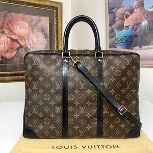Louis Vuitton Porte Documents Handbag 👜 Black